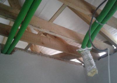 Instalacja na drewnie