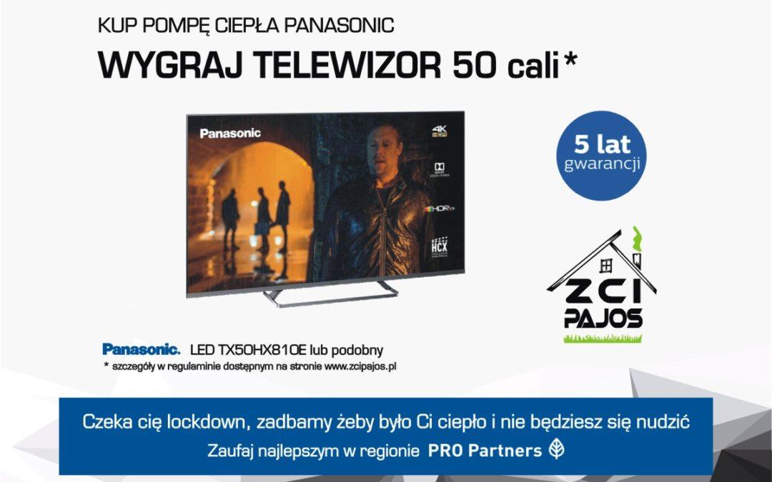 Wiosenna promocja. Kup pompę ciepła Panasonic Aquarera i wygraj telewizor!